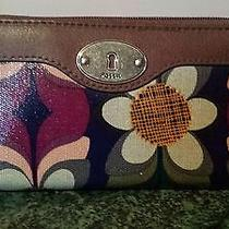 Floral Print Fossil Wallet Photo