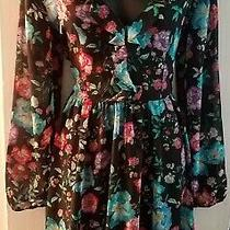 Floral Ruffled Romantic Feminine Dress by Express --- Size 8 -- Brand New Photo