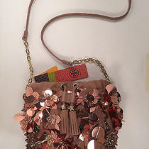 Flower Cluster Mini Bag Tori Burch Blush Sequin Draw String Bag Msrp 295.00 Photo