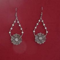 Flower Dangle Earring Swarovski Crystal Earrings E1263 Photo