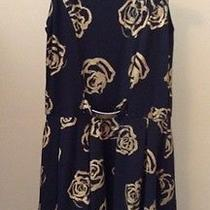 Flowers by Zoe Girls Dress Black Gold Roses Print Size  Large Photo