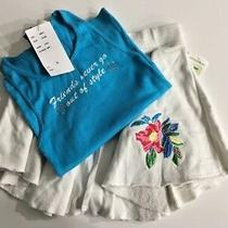 Flowers by Zoe Girls Size Xl Tank & Embroidered Flowers Swing Skirt  Bling Nwt Photo