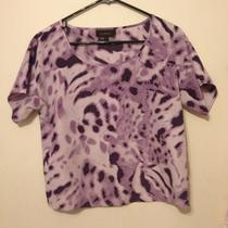 Flowy Xs Top Patterns Purple Polyester Averly Fancy Nice Photo