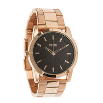 Flud the Moment Watch Rosegold / Black Photo