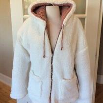 Fluffy Coat Parka Reversible Off White Jacket Blush Fits Medium Womens Boutique Photo