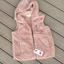 Fluffy Hoodie Weatherproof Jacket Vest Blush Rose Zip Womens M New Photo