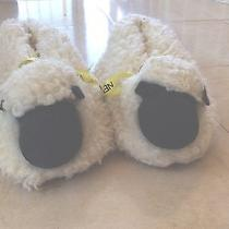 Fluffy Ivory Lamb Bedroom Slippers - Size 4 - 5 Photo