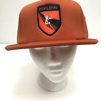 Flylow Trucker Hat Retro Ski Orange Patch Flat Bill Snapback Ski Bum Ball Cap Photo