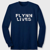 Flynn Lives Comic Con Funny Arcade Dvd Game Movie Legacy Long Sleeve Tee Photo