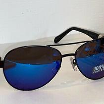 Fm25 Mens Fossil Blue Mirror Aviator Sunglasses Photo