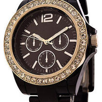 Fmd Crystal Accents Womens Fashion Watch by Fossil - Black Color Photo
