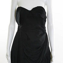 Foley  Corinna Black Silk Sleeveless Bubble Dress Sz L Photo