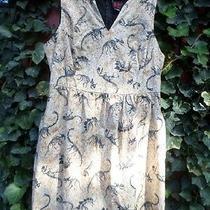 Folter Clothing Archaic Dinosaur Fossil Print Dress   100% Cotton  1x Photo