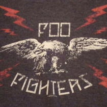 Foo Fighters Alternative Concert Charcoal Graphic Print T Shirt Xl Photo