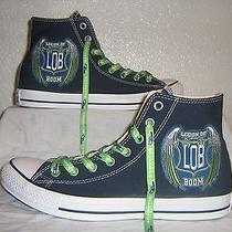 Football Custom Converse Mens 9 New Blue Sneakers Photo
