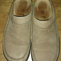 Footprints Birkenstock Womens Shoes 6.5 Tan Nubk Leather Loafer Slip on Mules 37 Photo