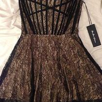 For Love & Lemons Black Corset Mini Dress Photo
