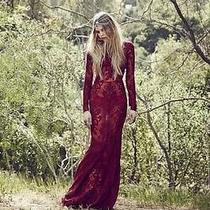 For Love & Lemons Ethereal Maxi Dress in Crimson(m)holiday Collection Photo