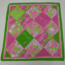 Ford Scarf by Lilly Pulitzer Cotton Multi Color Pink Green Hope Life Courage  Photo