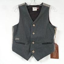 Fore Axel & Hudson Nwt 5/6 Gray Black Brown White 65% Rayon Lined Boys Vest Photo