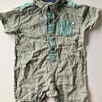 Fore Axel & Hudson One Piece Slate Boardwalk Romper Outfit Size 9-12 Months Photo