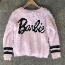 Forever 21 Barbie Limited Edition Fully Jumper Sweater Logo Pink Varsity S Top Photo