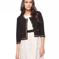 Forever 21 Black Chain Link Jacket Sm Photo