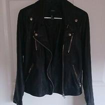 Forever 21 Black Faux Leather Women's Jacket Lined Size Medium  Photo