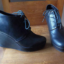 Forever 21 Black Oxford Wedge Shoes Wedges Size 9 Jeffrey Campbell Photo