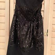 Forever 21 Black Sequin Cocktail Dress Sz S/p Gorgeous Lined Christmas New Years Photo