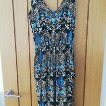 Forever 21 Blue Aztec Patterned Jumpsuit Size S 8 Barely Worn Photo