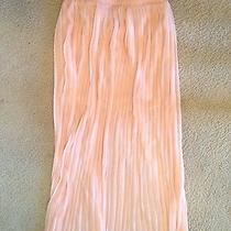 Forever 21 Blush Colored Cordion Long Skirt Size Xs Photo