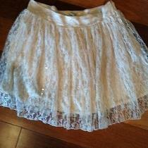 Forever 21 Blush Colored Lace Skirt Size Large Photo