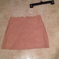Forever 21 Blush Faux Leather Skirt M Photo