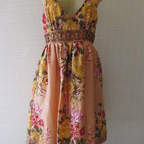 Forever 21 Blush Floral Print Sleeveless Sequin Dress Size M  Photo