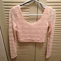 Forever 21 Blush Lace Crop Top Photo