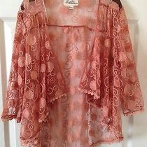 Forever 21 Blush Mesh Embroidered Top Photo