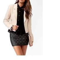 Forever 21 Blush/nude Metallic Thread Blazer Photo