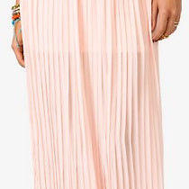 Forever 21 Blush/ Pink Accordion Maxi Skirt Size Small Photo