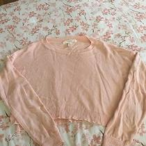 Forever 21 Blush Pink Cropped Sweater Size Large  Photo