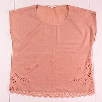 Forever 21 Blush Pink Cutout Detail Blouse Size Medium  Photo