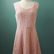 Forever 21 Blush Pink Floral Lace Dress Size Large Slightly Used Photo