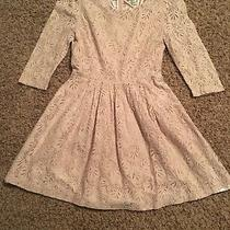 Forever 21 Blush Pink Lace Dress 3/4 Sleeve and Lined Size Medium Photo