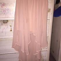 Forever 21 Blush Pink Mauve High Low Skirt Size Small Photo