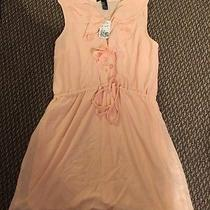 Forever 21 Blush Pink Ruffle Dress Size Medium Photo