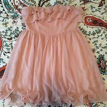 Forever 21 Blush Rose Strapless Cocktail Dress Size Large Photo
