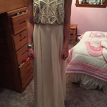 Forever 21 Blush/silver Sequined Gown Size M Photo