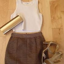 Forever 21 Bodycon Bandage Pencil Skirt Blush Pink Nude Xsmall Xs Ruched Photo