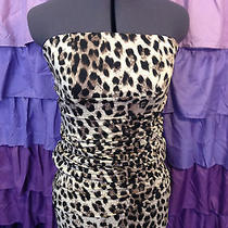 Forever 21 Bodycon Strapless Cheetah Dress Photo