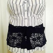 Forever 21 Charlotte Russe Lace  Women's Blouse Shirt Top Large L Corset Photo